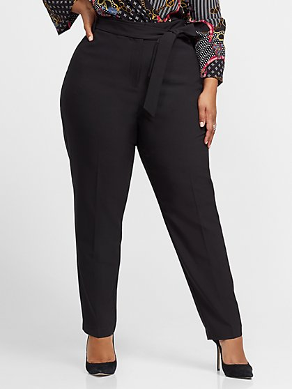 Plus Size Anya Tie-Waist Skinny Pant - Fashion To Figure