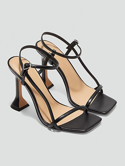 Plus Size Athena Strappy Sandals with Pyramid Heel - Fashion To Figure