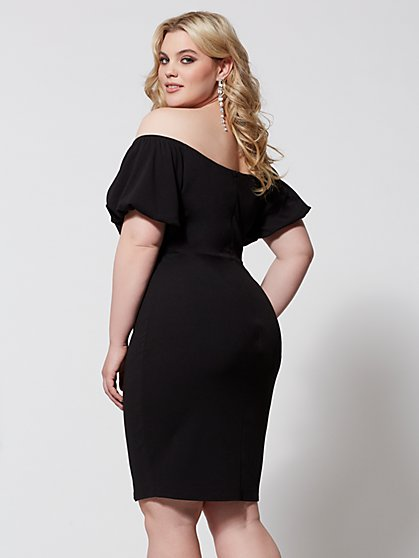 ec3bbe6cb2f ... Plus Size Audree Puff Sleeve Bodycon Dress - Fashion To Figure ...