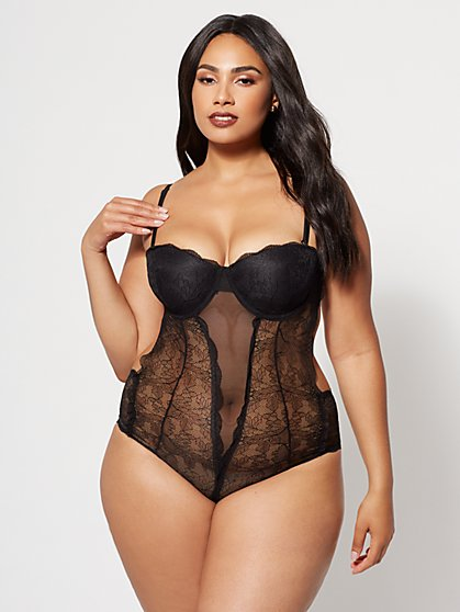 Plus Size Audrey Lace Teddy - Fashion To Figure