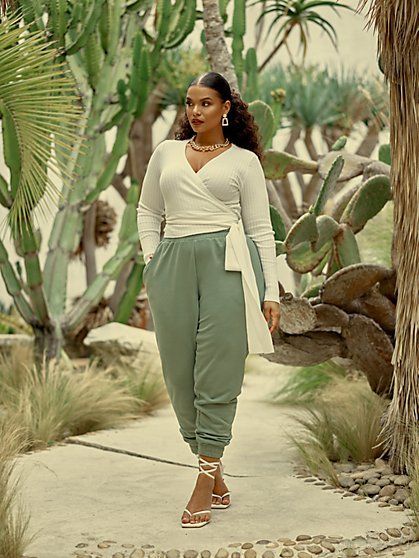 Plus Size Audrina Fitted Joggers - Fashion To Figure