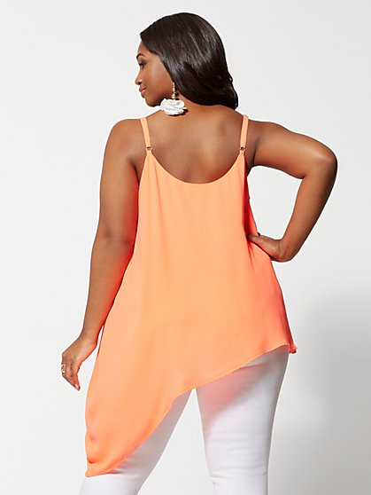 e926e117041 ... Plus Size Avanti Asymmetric Hem Tank Top - Fashion To Figure ...