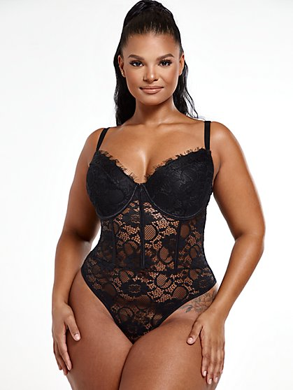 Plus Size Avery Lace Bodysuit - Fashion To Figure