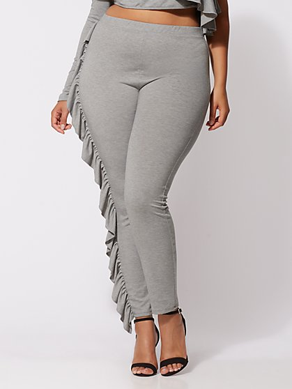 Plus Size Avery Ruffle Skinny Pants - Fashion To Figure