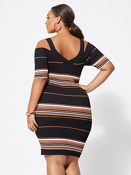 d9fe1f1c51b ... Plus Size Ayla Zip Sweater Dress - Fashion To Figure ...