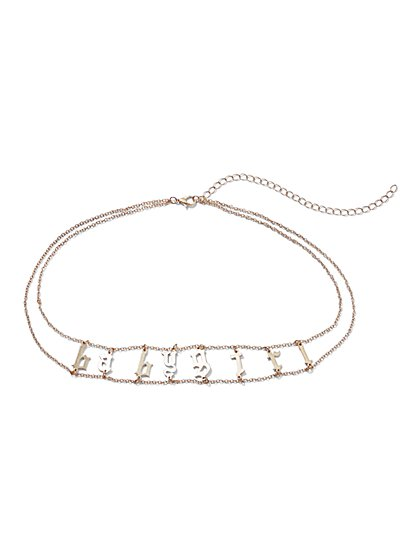 Plus Size Baby Girl Choker - Fashion To Figure