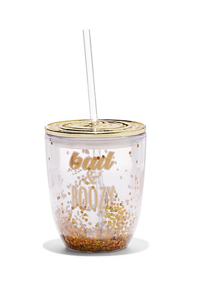 Plus Size Bad and Boozy Drink Tumbler - Fashion To Figure