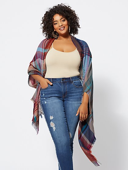 Plus Size Bailey Open-Front Ruana - Fashion To Figure