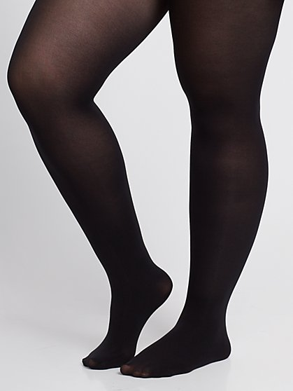 Plus Size Basic Black Tights - Fashion To Figure