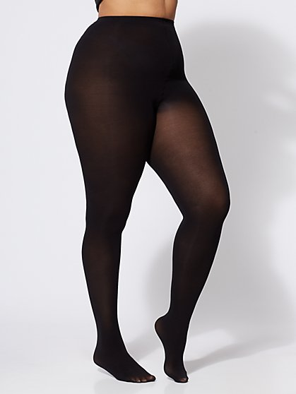 Plus Size Basic Opaque Tights - Fashion To Figure