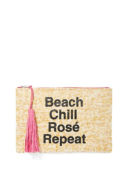 Plus Size Beach Chill Rosé Repeat Bikini Bag - Fashion To Figure