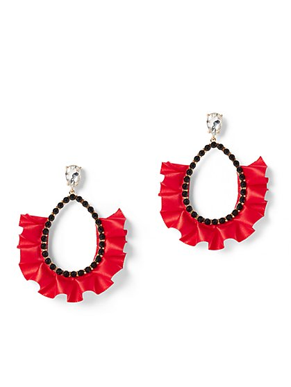 Plus Size Beaded Ruffle Earrings - Fashion To Figure