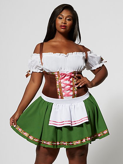 Plus Size Beer Maiden Gretchen Costume - Fashion To Figure