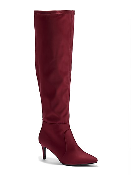 Plus Size Bella Over-The-Knee Sock Boots - Wide Width - Fashion To Figure