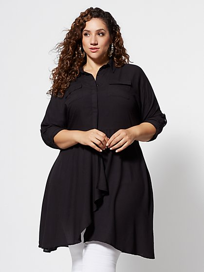 Plus Size Bellamy Utlility Blouse - Fashion To Figure