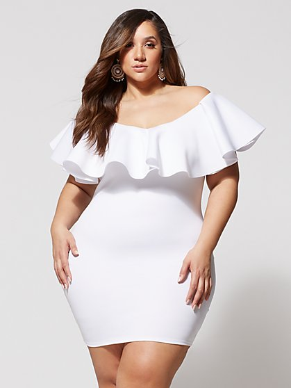 Plus Size Bentley Ruffle Bodycon Dress - Fashion To Figure