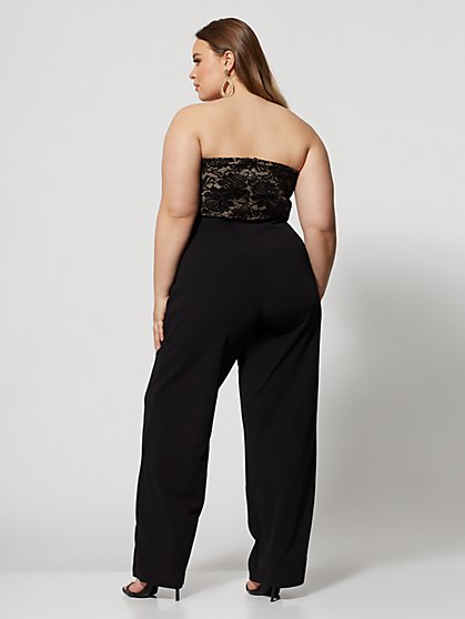 cf0b7ad3ab0 ... Plus Size Beverley Lace Bodice Jumpsuit - Fashion To Figure ...