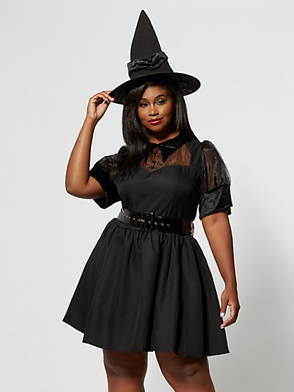 Plus Size Bewitching Witch Costume - Fashion To Figure