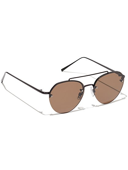 Plus Size Black Aviator Sunglasses - Fashion To Figure