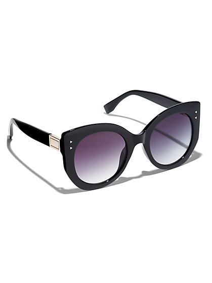 Plus Size Black Chunky Frame Sunglasses - Fashion To Figure