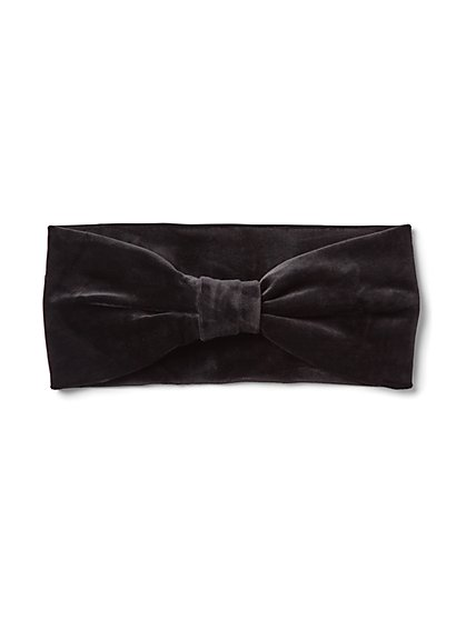 Plus Size Black Faux-Suede Twist Headband - Fashion To Figure