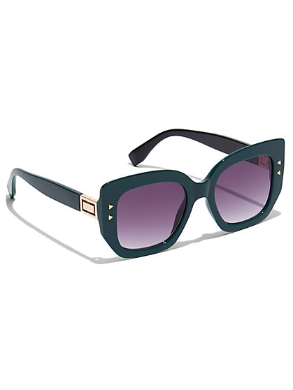Plus Size Black Oversized Sunglasses - Fashion To Figure