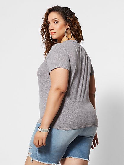072527006de5b ... Plus Size Blessed Mama V-Neck Tee - Fashion To Figure ...