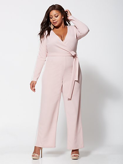4ca450c7701 Plus Size Bobbi Tie-Front Jumpsuit - Fashion To Figure ...