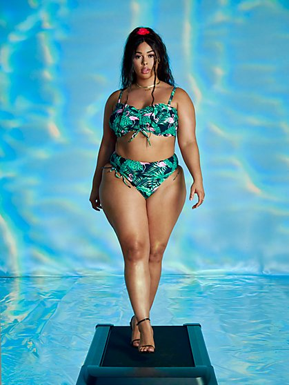 Plus Size Brianna Ruched Bikini Top - Tabria Majors x FTF - Fashion To Figure