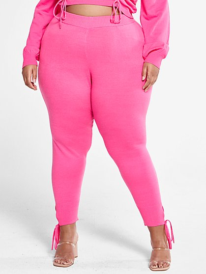 Plus Size Bridget Lounge Sweater Pants - Fashion To Figure