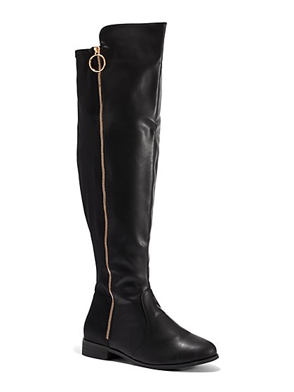 Plus Size Bridget Over-The-Knee Riding Boots - Wide Width - Fashion To Figure