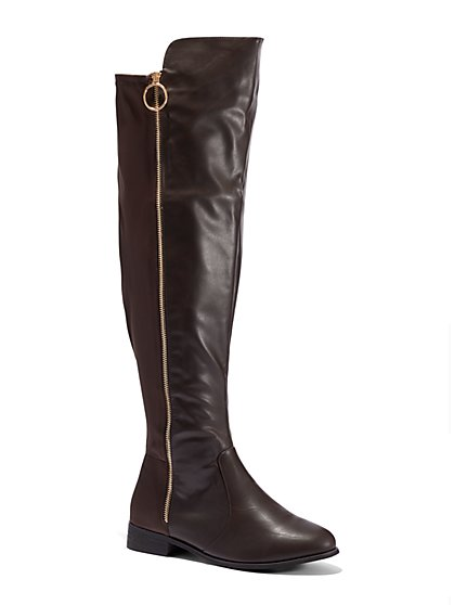 Plus Size Bristol Over-The-Knee Riding Boots - Wide Width - Fashion To Figure