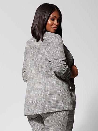 d272193b7f4 ... Plus Size Brooklyn Plaid Boyfriend Blazer - Fashion To Figure