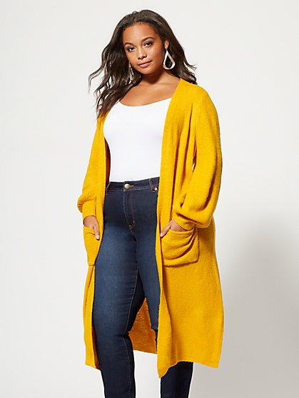 Plus Size Brooks Cozy Cardigan - Fashion To Figure