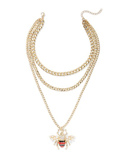 Plus Size Bumble Bee Chain Necklace - Fashion To Figure