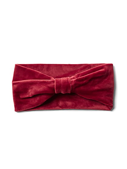 Plus Size Burgundy Faux-Suede Twist Headband - Fashion To Figure