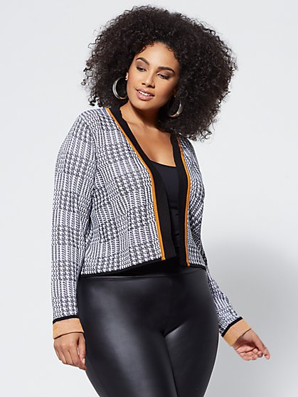Plus Size Callie Plaid Cardigan - Fashion To Figure