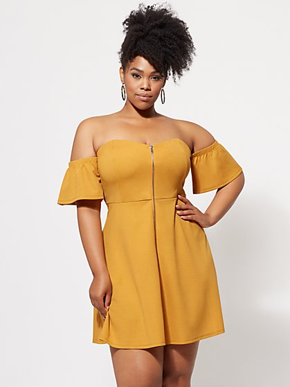Plus Size Callista Zip-Front Dress - Fashion To Figure