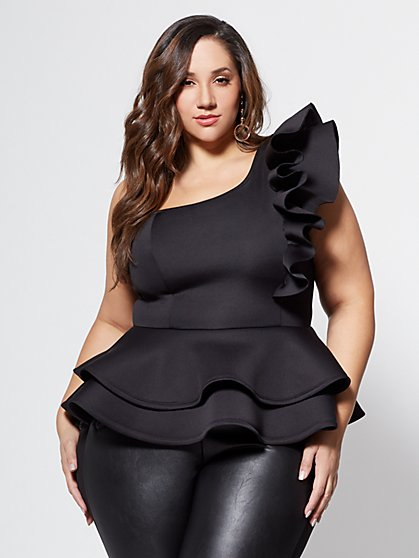 Plus Size Camilla Drama Ruffle Top - Fashion To Figure