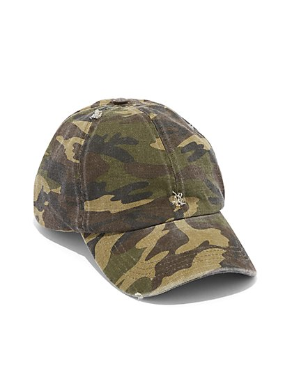 Plus Size Camo Baseball Cap - Fashion To Figure