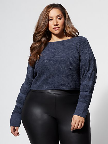 Plus Size Candy Knit Sweater - Fashion To Figure