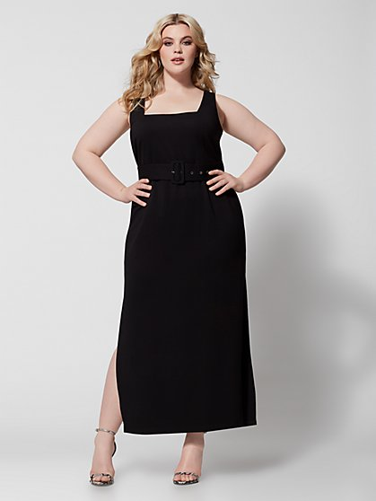 Plus Size Carlotta Belted Maxi Dress - Fashion To Figure