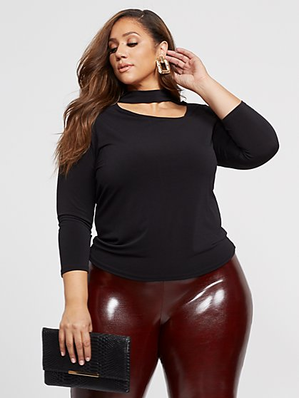 Plus Size Carlyne Cut-Out Top - Fashion To Figure