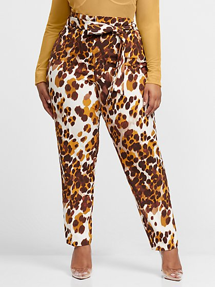 Plus Size Carolyn Leopard Print Skinny Pant - Fashion To Figure