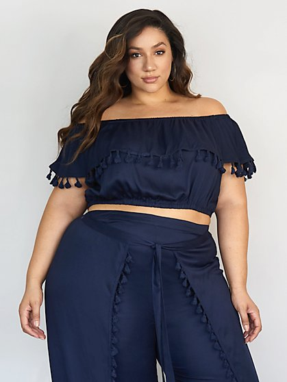 Plus Size Carrie Off The Shoulder Blouse - Fashion To Figure