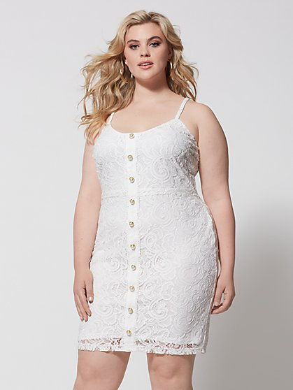 Plus Size Cassia Lace Bodycon Dress - Fashion To Figure