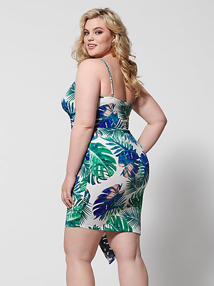 ed5fa5a01ff ... Plus Size Cerelia Tropical Print Bodycon Dress - Fashion To Figure ...