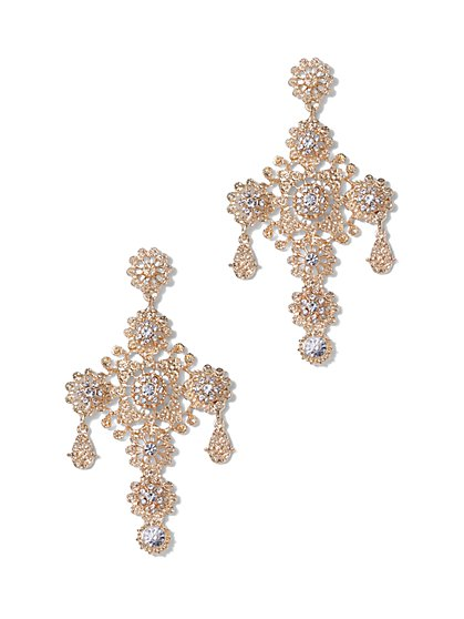 Plus Size Chandelier Cross Earrings - Fashion To Figure