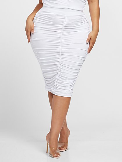 Plus Size Chantel Pull-on Bodycon Skirt - Fashion To Figure