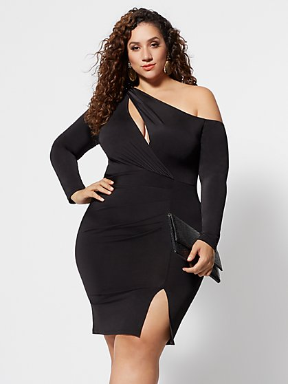 Plus Size Chantelle Cut-Out Bodycon Dress - Fashion To Figure